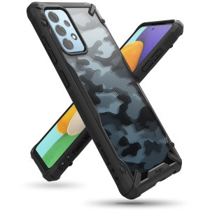 Rinke Fusion X Samsung Galaxy A52 Tough Case - Camo Black