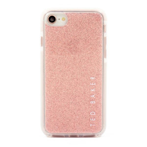 Be the talk of your friends with this stunning, Ted Baker Glitter case. Form-fitting and bulk-free, this Roosie case for iPhone 7 offers ultimate protection from scrapes & bumps, whilst featuring an eye-catching, pink glitter appearance.