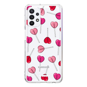 LoveCases Samsung Galaxy A32 5G Gel Case - Lollypop Love
