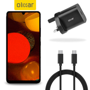 Olixar Samsung A42 18W USB-C PD Fast Charger & 1.5m USB-C Cable