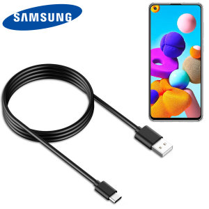 Official Samsung Galaxy A21 USB-C Charge & Sync Cable - 1.2m - Black