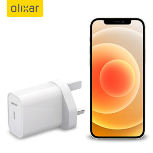 Olixar iPhone 11 Pro 20W USB-C Super Fast PD UK Wall Charger - White