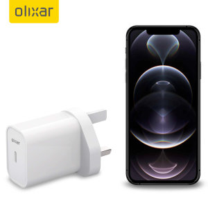 Olixar iPhone 11 20W USB-C Super Fast PD UK Wall Charger - White