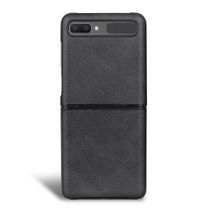 Olixar Leather-Style Samsung Galaxy Z Flip Case - Black