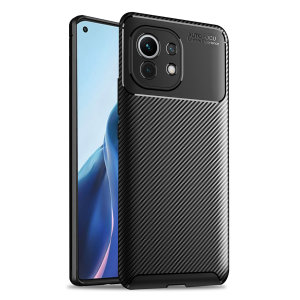 Olixar Carbon Fibre Xiaomi Mi 11 Protective Case - Black