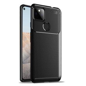 Olixar Carbon Fibre Google Pixel 5a Protective Case - Black