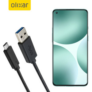 Olixar OnePlus 9 USB-C Charging Cable - 1m - Black