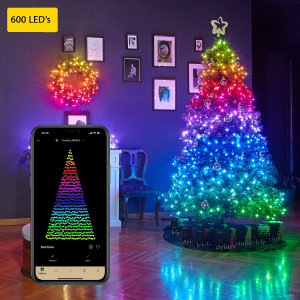 Twinkly Smart RGB 600 LED Christmas String Lights Gen II  - 48m