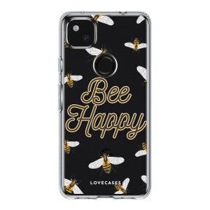 LoveCases Google Pixel 5a Gel Case - Bee Happy