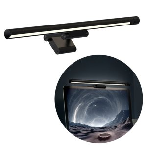 Baseus I-wok USB Asymmetric Hanging Screenbar Light For PC - Black