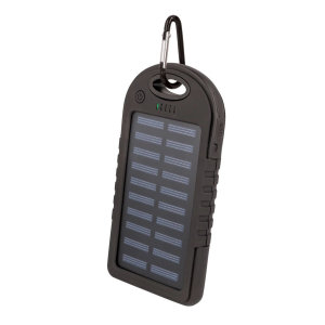 Setty Solar Powered Portable Charger 5000 mAh - Black