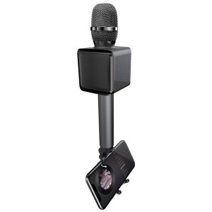 Dudao Wireless Bluetooth Microphone For Karaoke W/ Phone Holder- Black