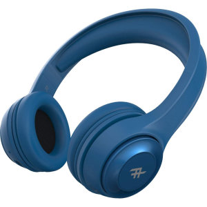 iFrogz Aurora Over-Ear Wireless Headphones W/ 3.5mm Audio Jack - Blue