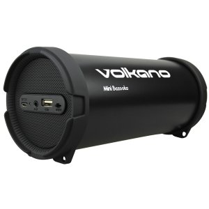 Volkano Mini Bazooka Bluetooth Speaker - Black