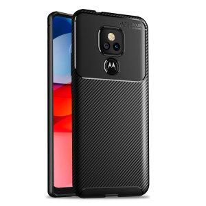 Olixar Carbon Fibre Moto G Play 2021 Protective Case - Black