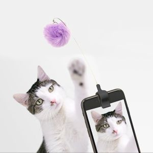 Kikkerland Fuzzy Toy Selfie Clip for Cat Photos - Multicolour