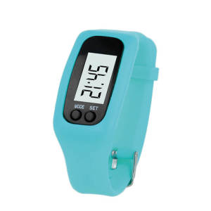 Water-Resistant Adjustable Smart Pedometer - Blue