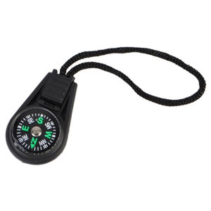 Mini Lightweight Portable Compass Navigator W/ Adjustable Strap- Black