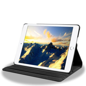 "iPad 9.7"" 2017 5th Gen. 360° Rotation Stand Flip Case - Black"