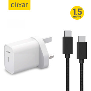 Olixar 20W USB-C to C Fast Charger For iPad - White/Black