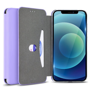 Olixar Soft Silicone iPhone 12 Wallet Case - Purple