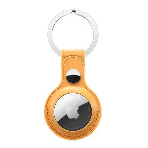 Olixar Apple AirTags Leather-Style Protective Keyring - Tan