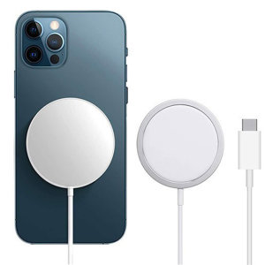 Official iPhone 12 Pro MagSafe Qi Enabled Fast Wireless Charger- White