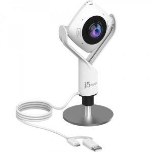 J5 Create 360° Panoramic Meeting Webcam - White