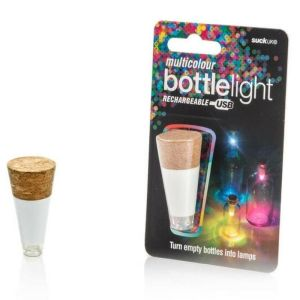Suck Multicolour Rechargeable USB Cork Shaped Bottle Light