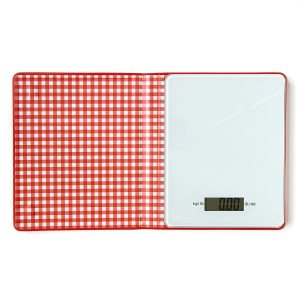 Suck Cook's Book Kitchen Scales - Kg/lb - Red/White