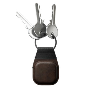 Nomad Horween Leather Apple Airtag Secure Keychain