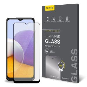 Olixar Samsung Galaxy A22 5G Tempered Glass Screen Protector