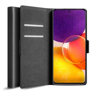 Olixar Genuine Leather Samsung Galaxy Quantum 2 Wallet Case - Black
