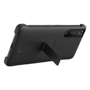 Official Sony Xperia 1 III Style Cover Protective Stand Case - Black