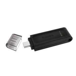 Kingston DT70 64GB USB-C Pendrive - Black
