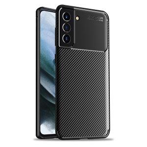 Olixar Carbon Fibre Samsung Galaxy S21 FE Protective Case - Black