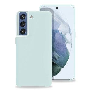 Olixar Samsung Galaxy S21 FE Soft Silicone Case - Pastel Blue