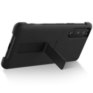 Official Sony Xperia 5 III Style Cover Protective Stand Case - Black