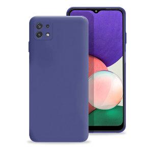 Olixar Samsung Galaxy A22 5G Soft Silicone Case - Midnight Blue