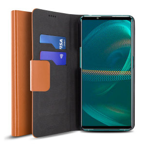 Olixar Leather-Style Sony Xperia 5 III Wallet Case - Brown