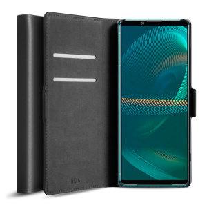 Olixar Genuine Leather Sony Xperia 5 III Wallet Case - Black