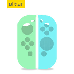Olixar Silicone Switch Joy-Con Controller Covers- 2 Pack- Green / Blue