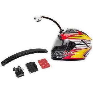 Ksix Helmet Mount Selfie Extension For Go-Pro & Action Cameras - Black