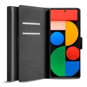 Olixar Genuine Leather Google Pixel 6 Wallet Case - Black
