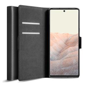 Olixar Genuine Leather Google Pixel 6 Pro Wallet Case - Black