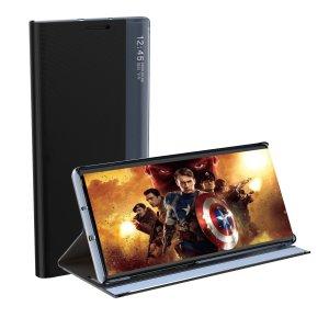 Auto Sleep Samsung Galaxy S21 Ultra Bookcase With Kickstand - Black