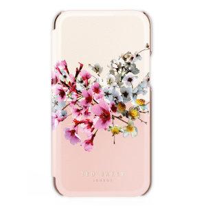 Ted Baker Jasmine iPhone 13 Anti-Shock Folio Case - Rose Gold