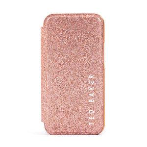 Ted Baker Folio Glitsie iPhone 13 Pro Flip Mirror Case - Pink