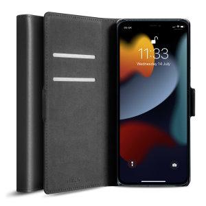 Olixar Genuine Leather iPhone 13 Pro Wallet Case - Graphite