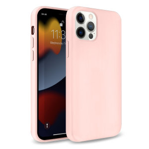 Olixar Soft Silicone iPhone 13 Pro Max Case - Pastel Pink